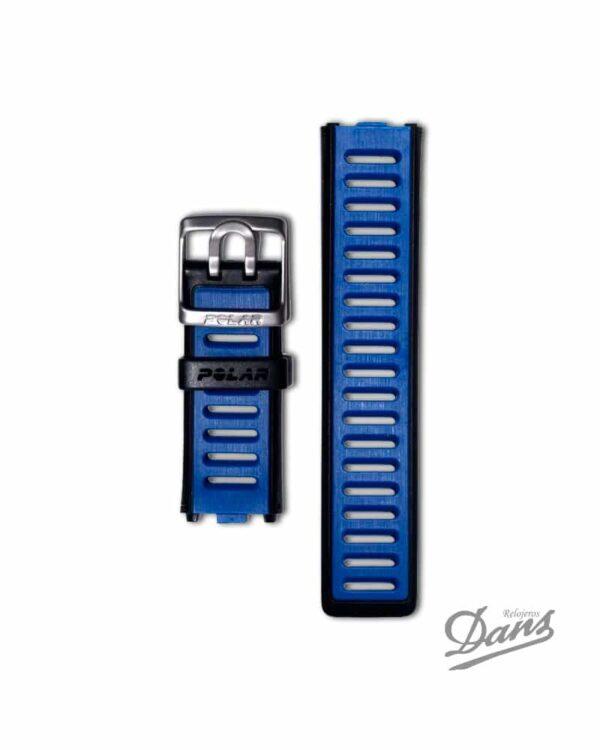 Recambio correa Polar RC3 original en azul Dans Relojeros