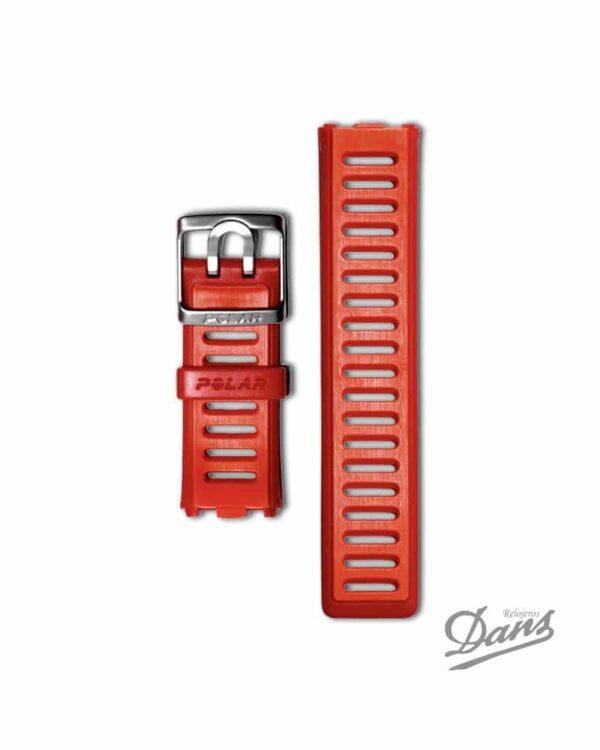 Recambio correa Polar RC3 original en rojo Dans Relojeros