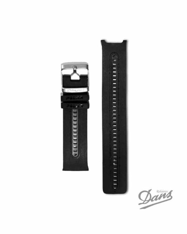 Recambio correa Polar RCX5 original en negro Dans Relojeros