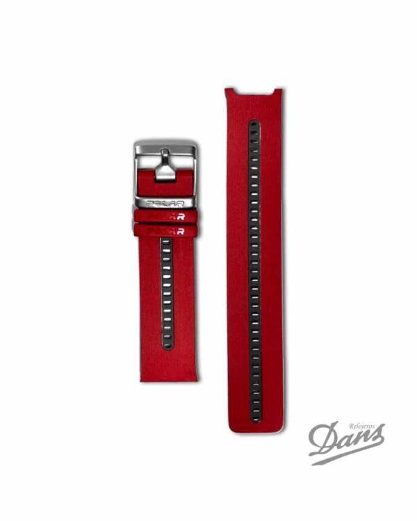 Recambio correa Polar RCX5 original en rojo Dans Relojeros