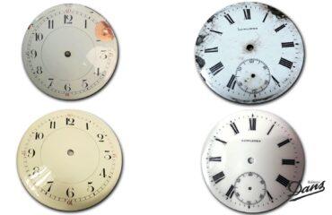 Restauración esferas de porcelana relojes Dans Relojeros